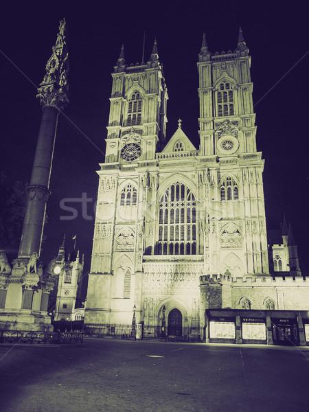 Bağbozumu sepya westminster manastır Retro kilise Stok fotoğraf © claudiodivizia