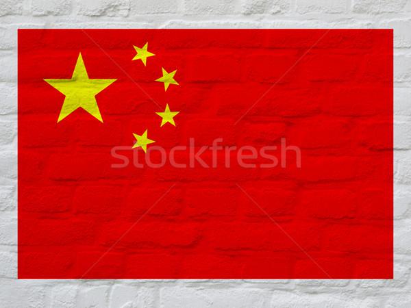 National Chinese flag Stock photo © claudiodivizia