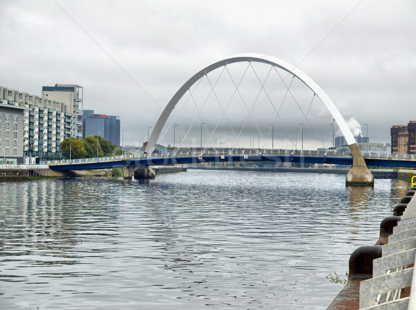 Folyó hdr Glasgow város Skócia magas Stock fotó © claudiodivizia
