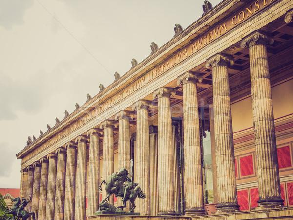 レトロな 見 ベルリン ヴィンテージ 見える 博物館 ストックフォト © claudiodivizia