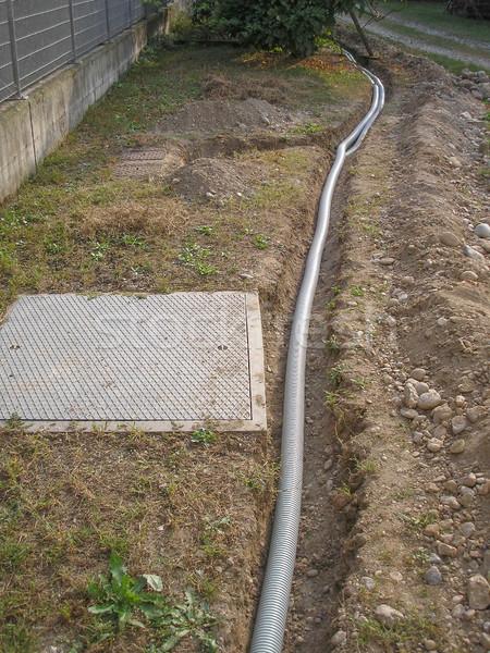パイプ パイプ 地下 電気通信 サービス ストックフォト © claudiodivizia