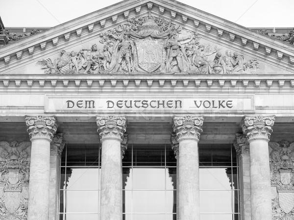 Berlim casas parlamento Alemanha preto e branco preto Foto stock © claudiodivizia