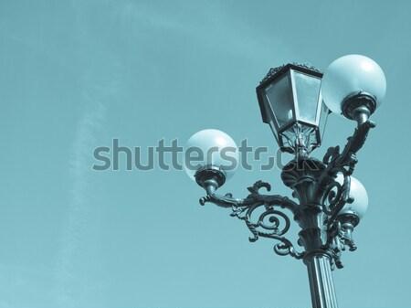 Straße Lichter Licht Straßenlaterne Standard blauer Himmel Stock foto © claudiodivizia