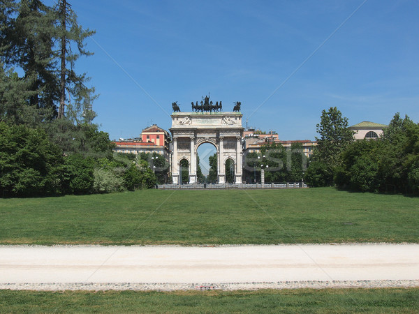Arco della Pace, Milan Stock photo © claudiodivizia
