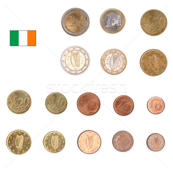 Stock fotó: Euro · érme · Írország · érmék · mindkettő · nemzetközi