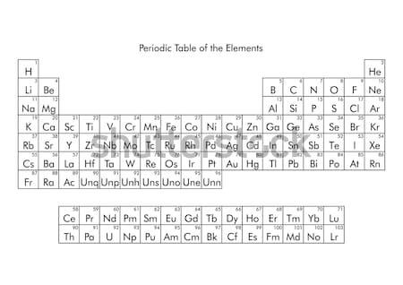 周期表 要素 固体 液体 ガス 不明 ストックフォト © claudiodivizia
