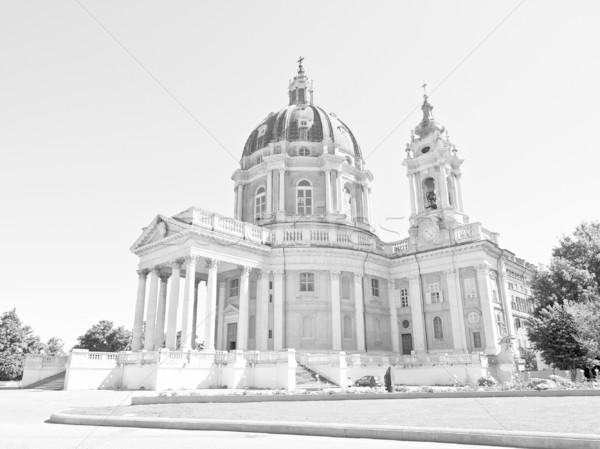Bazilika İtalya eski barok manastır Stok fotoğraf © claudiodivizia