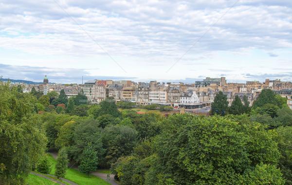 Edinburgh Schotland stad skyline panorama Stockfoto © claudiodivizia