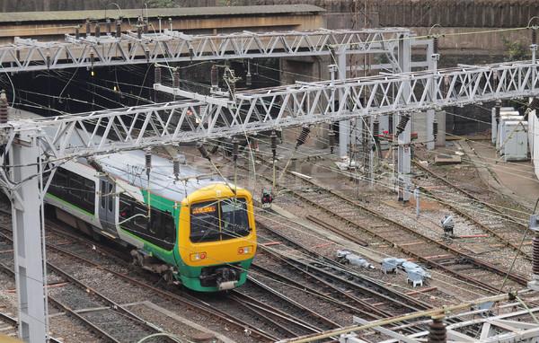 Ferrovia trem transporte viajar metrô Foto stock © claudiodivizia