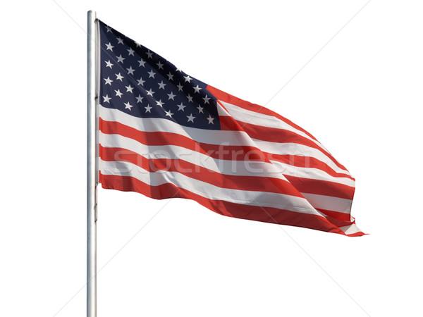 Drapeau américain pavillon États-Unis Amérique USA isolé Photo stock © claudiodivizia