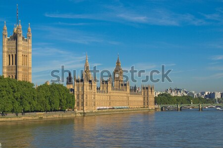 Huizen parlement westminster paleis Londen gothic Stockfoto © claudiodivizia