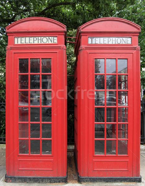 Zdjęcia stock: Londyn · telefon · polu · tradycyjny · czerwony · projektu