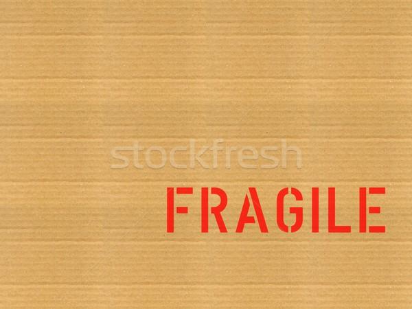 Fragile carton photos étiquette papier texture Photo stock © claudiodivizia