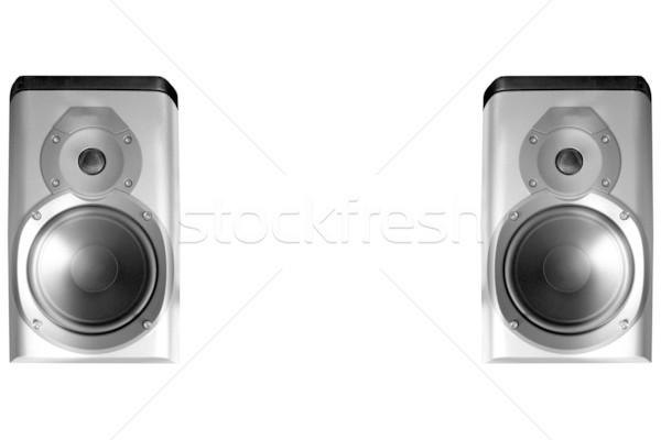Hoparlörler çift stereo merhaba müzik Stok fotoğraf © claudiodivizia