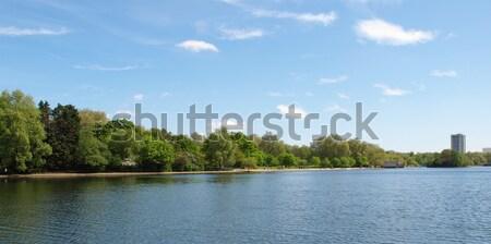 Serpentine lake London Stock photo © claudiodivizia