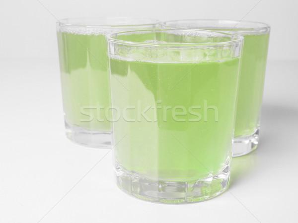 緑 リンゴジュース 眼鏡 コンチネンタルブレックファースト 表 リンゴ ストックフォト © claudiodivizia