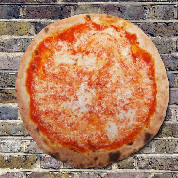 Pizza italiano ladrillo horno queso Foto stock © claudiodivizia