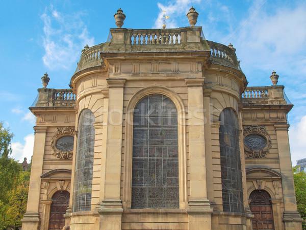 Katedrális Birmingham templom retro építészet klasszikus Stock fotó © claudiodivizia