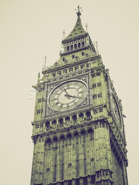 Vintage sépia Big Ben retro casas parlamento Foto stock © claudiodivizia