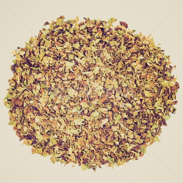 Retro look Oregano spice Stock photo © claudiodivizia