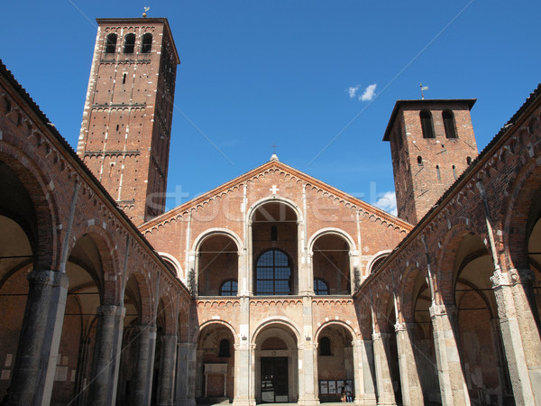 Kerk milaan basiliek Italië vintage Europa Stockfoto © claudiodivizia