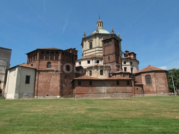 Kerk milaan basiliek Italië architectuur Europa Stockfoto © claudiodivizia