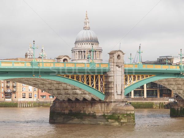 Fiume thames Londra panoramica view acqua Foto d'archivio © claudiodivizia