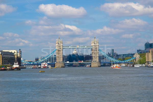 Tower Bridge Londra fiume thames città architettura Foto d'archivio © claudiodivizia