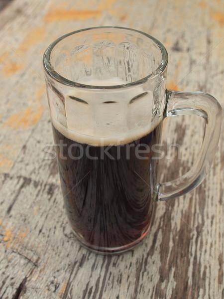 Sötét sör üveg bár alkohol kocsma Stock fotó © claudiodivizia