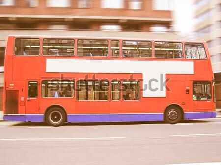 Double decker London bus Stock photo © claudiodivizia