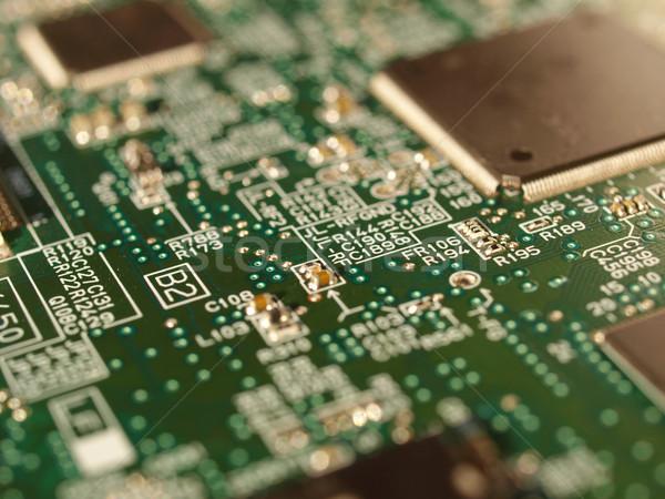 Afgedrukt circuit detail elektronische printplaat computer Stockfoto © claudiodivizia