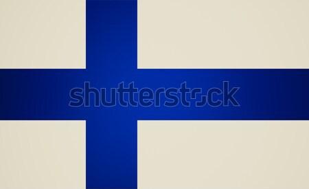 レトロな 見 フラグ フィンランド ヴィンテージ 見える ストックフォト © claudiodivizia
