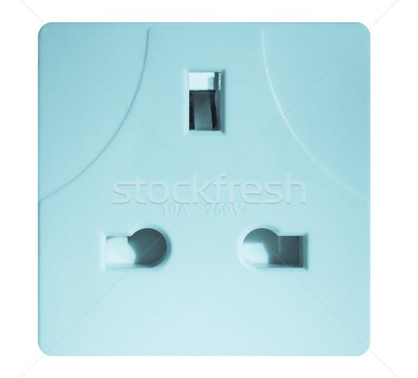 Brit dugó foglalat szabvány elektromos csatlakozó izolált Stock fotó © claudiodivizia