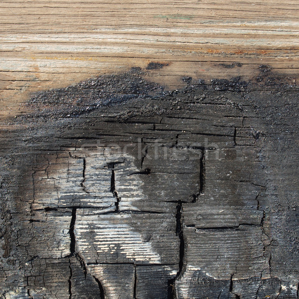Burned wood Stock photo © claudiodivizia