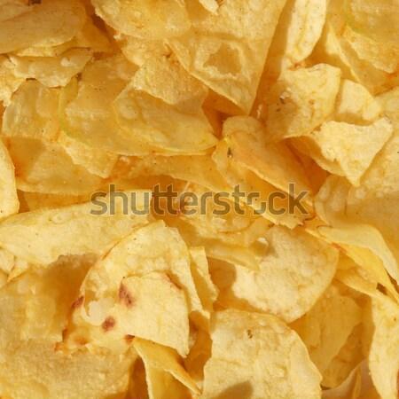 Chips detail snack voedsel maaltijd dieet Stockfoto © claudiodivizia