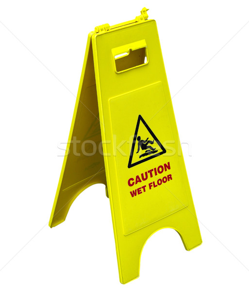 Wet Floor sign Stock photo © claudiodivizia