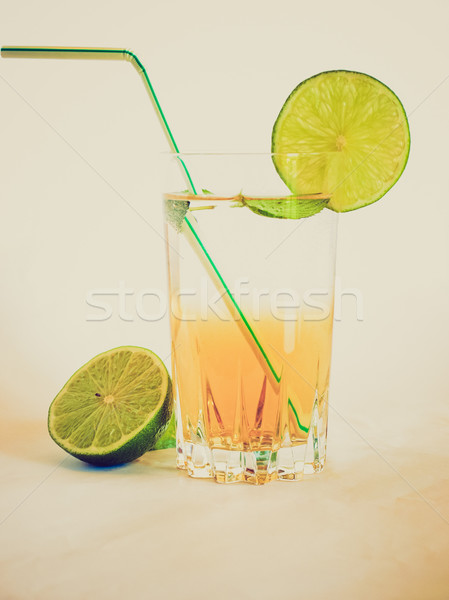 Retro look Cocktail picture Stock photo © claudiodivizia