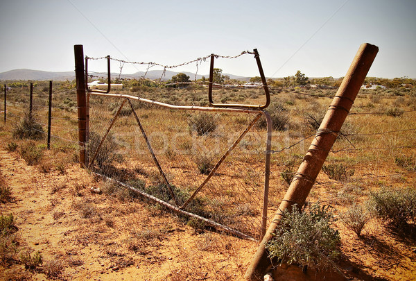 old desert fence Stock photo © clearviewstock