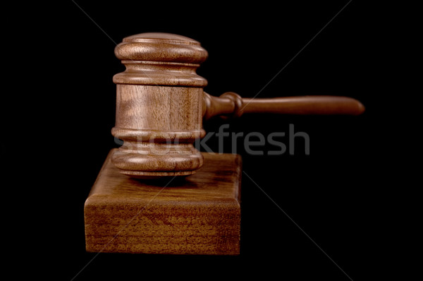 gavel on black Stock photo © clearviewstock