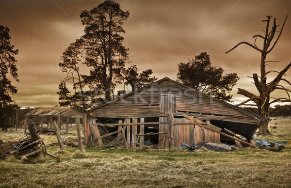 Alten Bauernhof Gebäude alle vergessen fallen Stock foto © clearviewstock