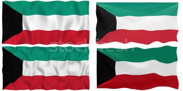 Vlag Koeweit groot afbeelding Stockfoto © clearviewstock