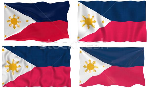 Zászló Fülöp-szigetek nagyszerű kép Stock fotó © clearviewstock