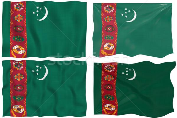Zászló Türkmenisztán nagyszerű kép Stock fotó © clearviewstock
