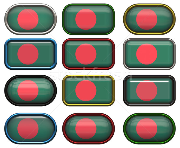 twelve buttons of the Flag of Bangladesh Stock photo © clearviewstock