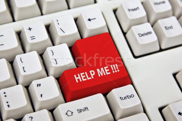 help me keyboard Stock photo © clearviewstock
