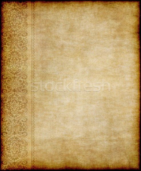 Edad floral pergamino imagen pergamino Foto stock © clearviewstock