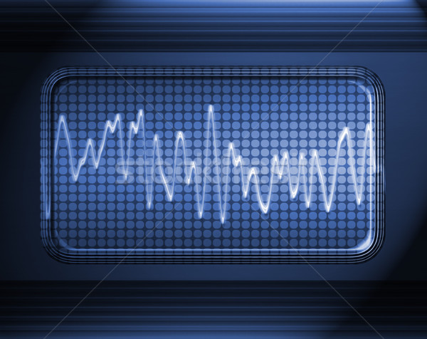 Ses ses dalga Metal panel müzik Stok fotoğraf © clearviewstock