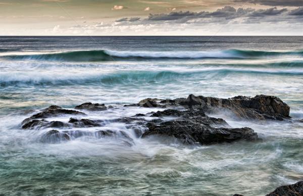 Rocce mare arte immagine forte natura Foto d'archivio © clearviewstock