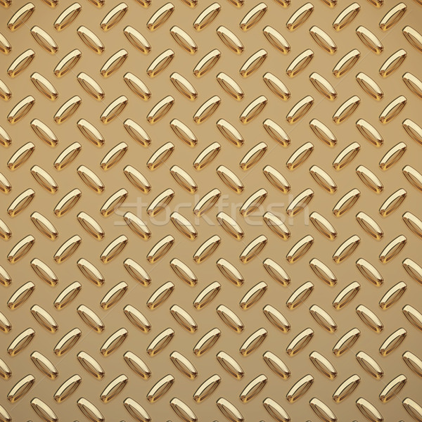 gold tread plate  Stock photo © clearviewstock