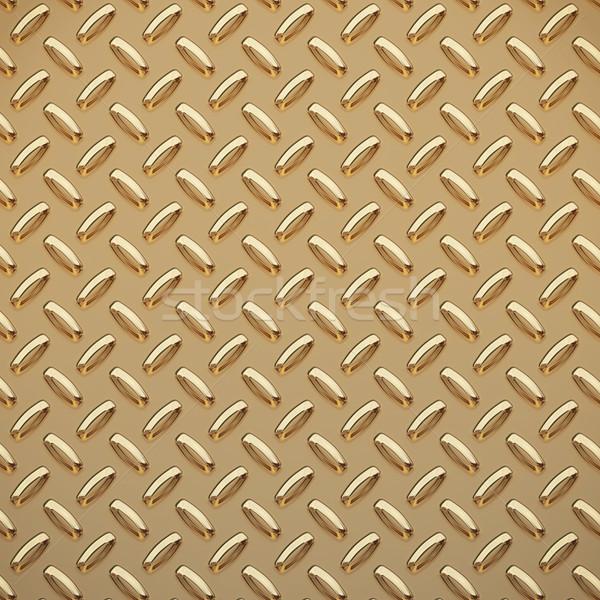 Stock photo: gold tread plate